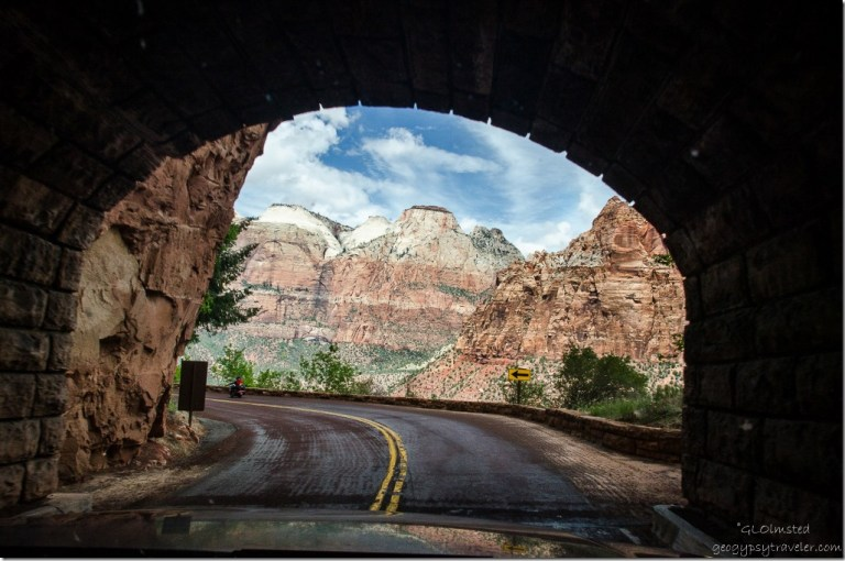 View from tunnel SR9 W Zion National Park Utah