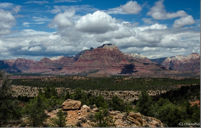 Zion National Park from Smithsonia Butte Scenic Byway Utah