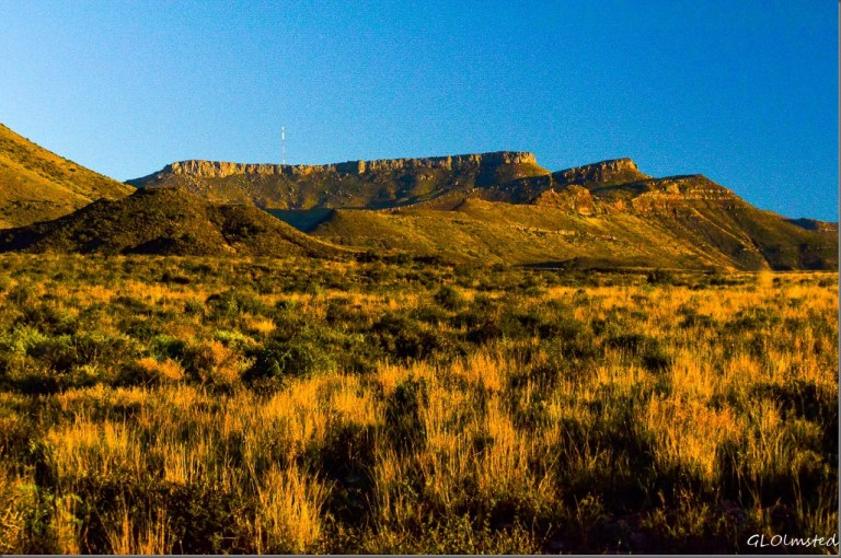 Morning light on the mountains Karoo National Park South Africa