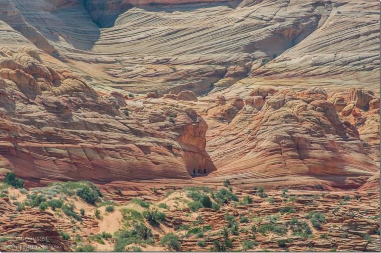 The Wave Coyote Buttes trail Paria Canyon-Vermilion Cliffs Wilderness Ariszona