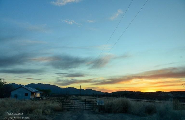 Sunset over Weaver Mountains Kirkland Arizona