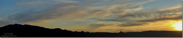 Sunset over Weaver Mountains near Kirkland Arizona