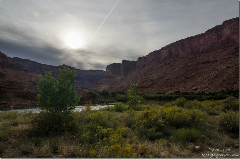 Colorado River UT128 Colorado Riverway Recreation Area Big Bend Beach campground Utah