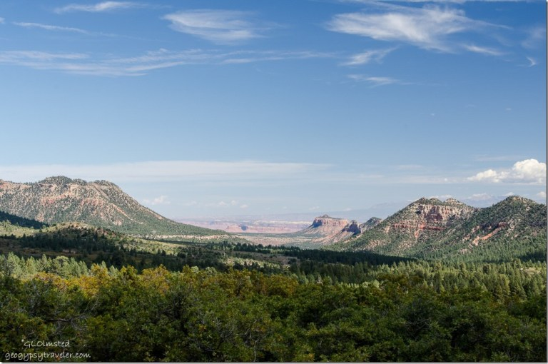 Southern Canyonlands from Manti-La Sal National Forest Utah