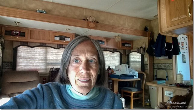 New phone selfie in RV Kanab, Utah