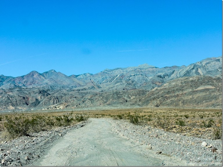 Rough road to Titus Canyon Death Valley National Park California