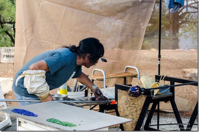 Hopi Ramson blowing glass Native American Heritage Days North Rim Grand Canyon National Park Arizona