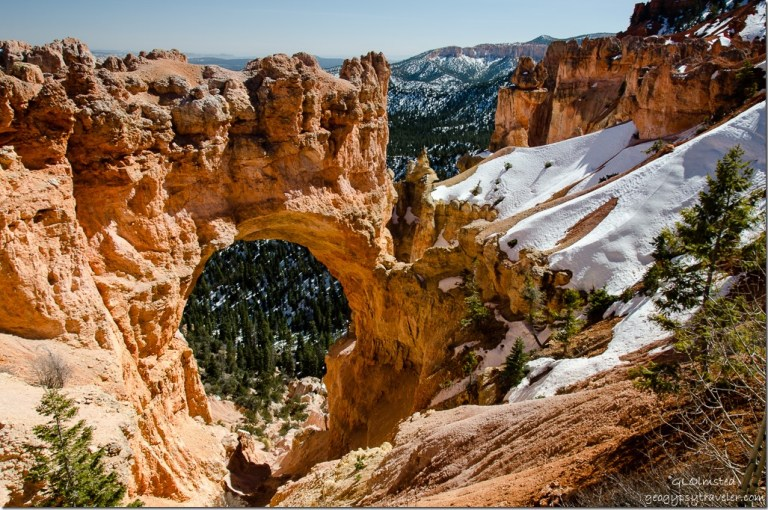 Snow Natural Arch Bryce Canyon National Park Utah