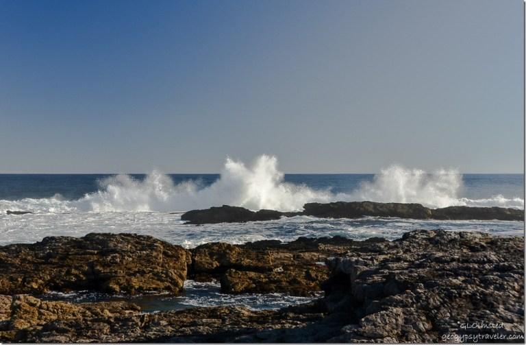 Crashing waves at Storms River Mouth Tsitsikamma National Park South Africa