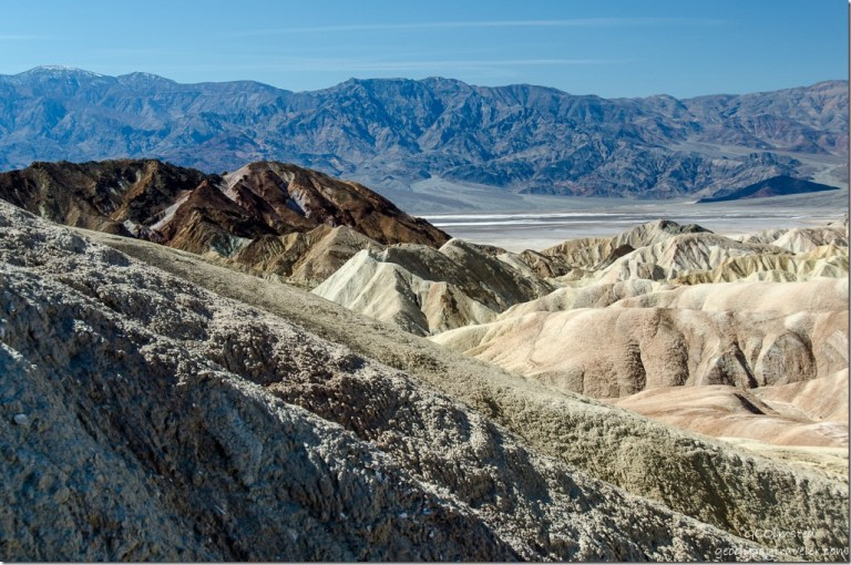 View into valley from Zabriskie Point Death Valley National Park California