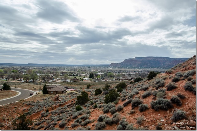 Town view from K-Hill trail Kanab Utah