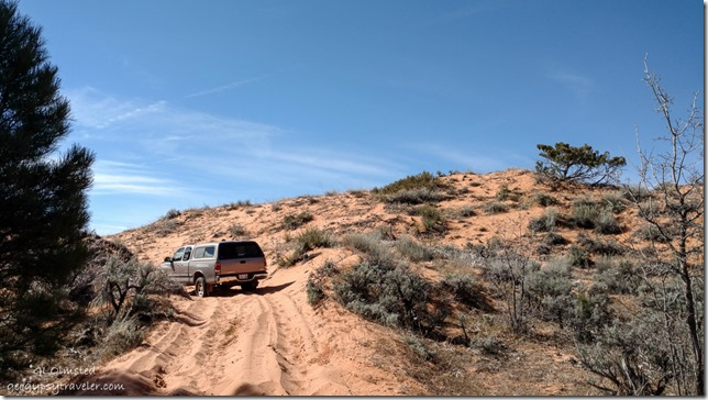 Bill's truck Sand dune ATV trail to Peekaboo Canyon Utah