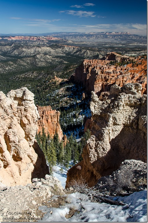 Snow Bryce Canyon National Park Utah