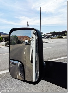 Dan towing 5er in side mirror Kanab Utah