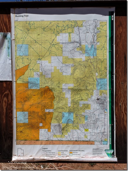 BLM map Bunting Trail Kanab Utah