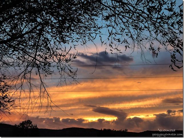 Sunset from RV Kanab Utah