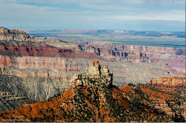 Brady Peak from Vista Encantada Walhalla Plateau North Rim Grand Canyon National Park Arizona
