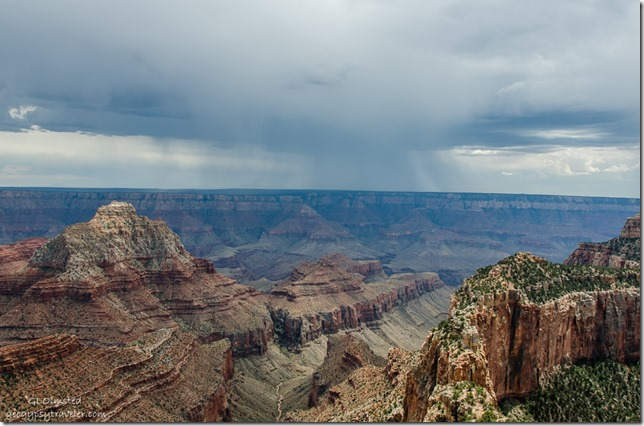 Storm over South Rim Cape Royal North Rim Grand Canyon National Park Arizona