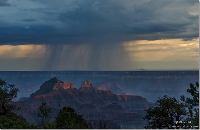 Stormy sunset North Rim Grand Canyon National Park Arizona