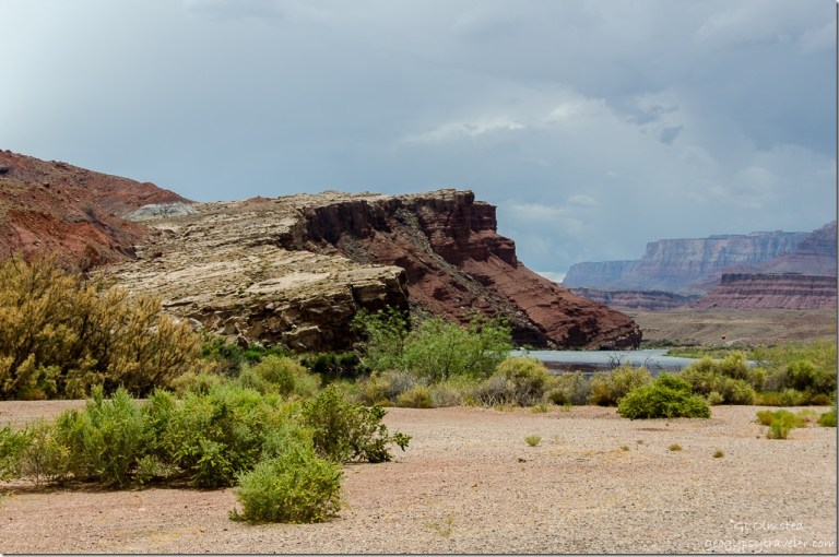 Route South side of Colorado River from Lees Ferry Glen Canyon National Recreation Area Arizona