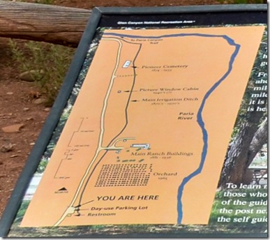 Map Lonely Dell Ranch Lees Ferry Glen Canyon National Recreation Area Arizona