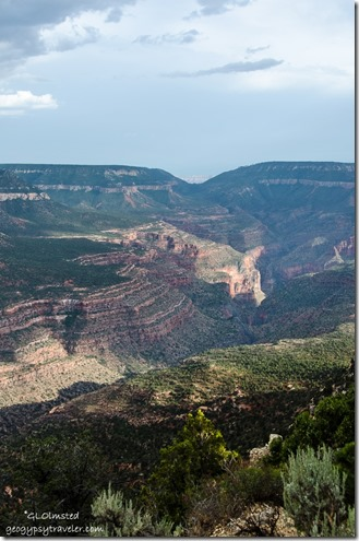 South down Crazy Jug & Saddle Canyon & Muave Saddle Crazy Jug Point Kaibab National Forest Arizona