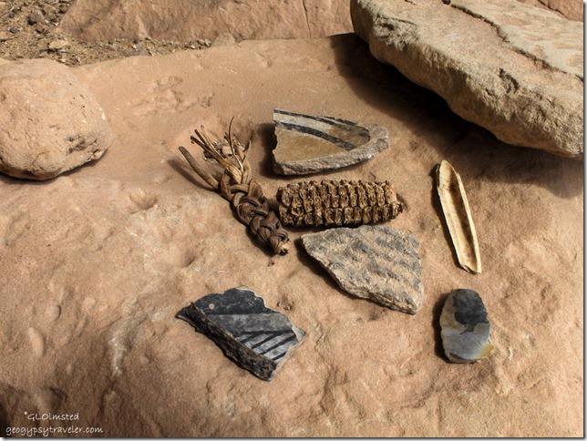 Step House artifacts Mesa Verde National Park Colorado