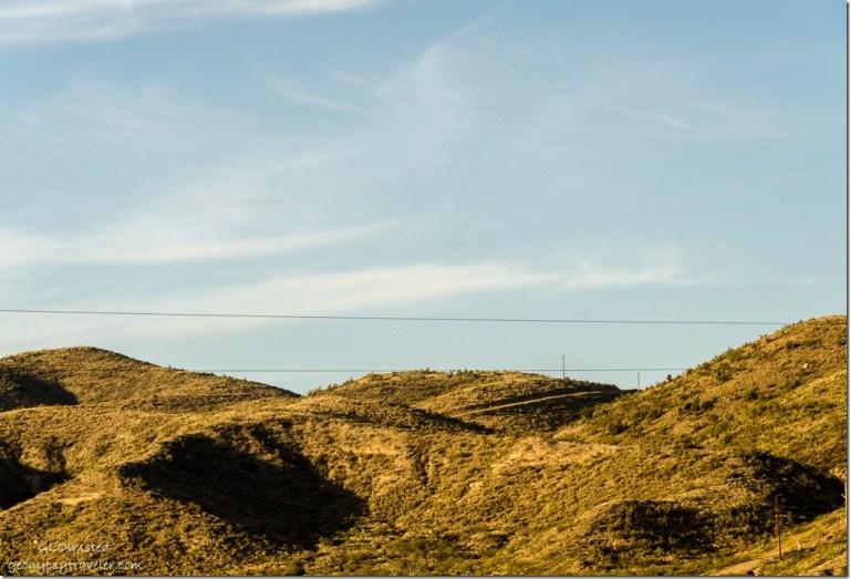 Light & shadow on hills North of Kirkland Arizona