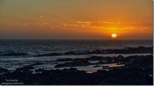 Sunset crashing waves Indian Ocean Tsitsikamma National Park South Africa