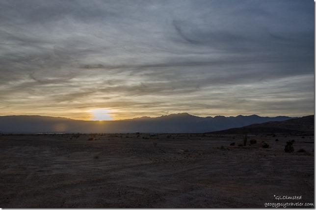 Sunset over Vallecito Mts Anza-Borrego Desert State Park California