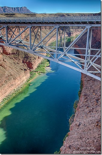 Colorado River Navajo Bridge Marble Canyon Arizona