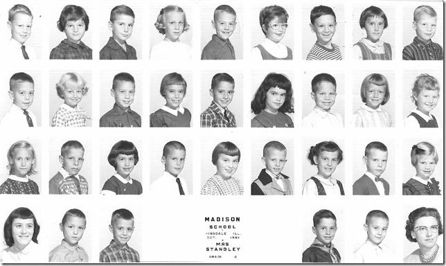 Madison School 2nd grade class Oct 1961 Hinsdale Illinois