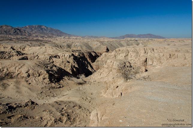 Badlands canyon Anza-Borrego Desert State Park California