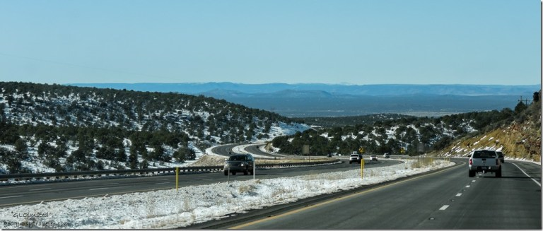 Snow I40 West Arizona