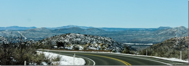 Snow Weaver Mountains Iron Springs Road Arizona