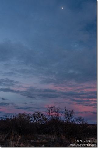 Sunset & moon Kirkland Arizona