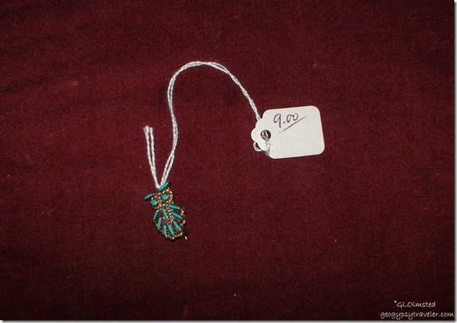 Old pawn sterling silver & turquoise broche & pendant bought at Noah's Thrift Store Prescott Arizona