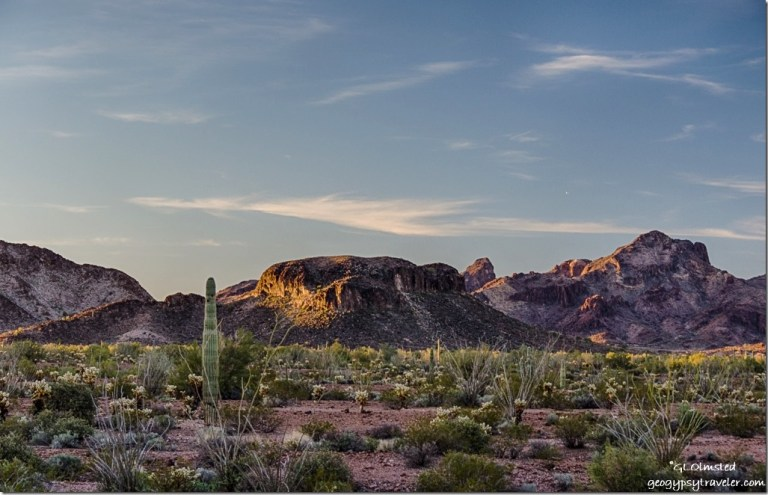 Morning light Chocolate Mountains KOFA National Wildlife Refuge Arizona