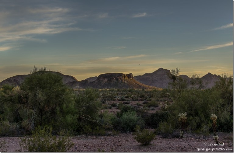 Sunset Kofa National Wildlife Refuge Arizona