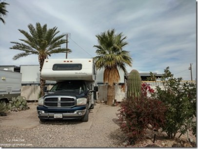 Truck camper Belly Acres RV Park Ajo Arizona