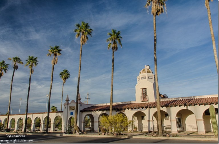 Historic Plaza & train depot Ajo Arizona