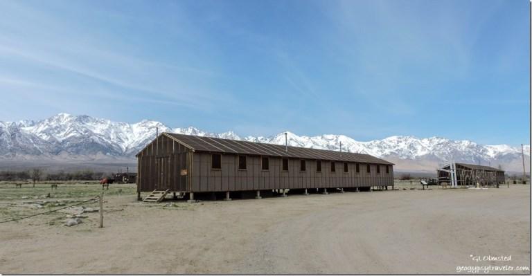 Block 14 barracks Manzanar National Historic Site Independence California