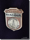 Junior Ranger badge Manzanar National Historic Site Independence California