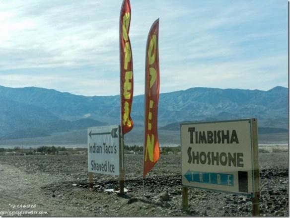 Timbisha Shoshone Village signs Death Valley National Park California