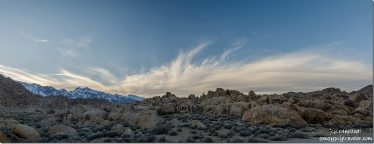 sunset Alabama Hills BLM Lone Pine California