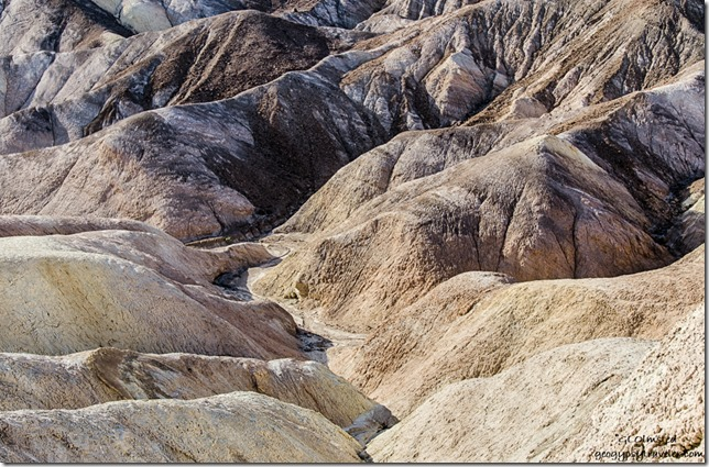 Badlands Zabriskie Point Death Valley National Park California