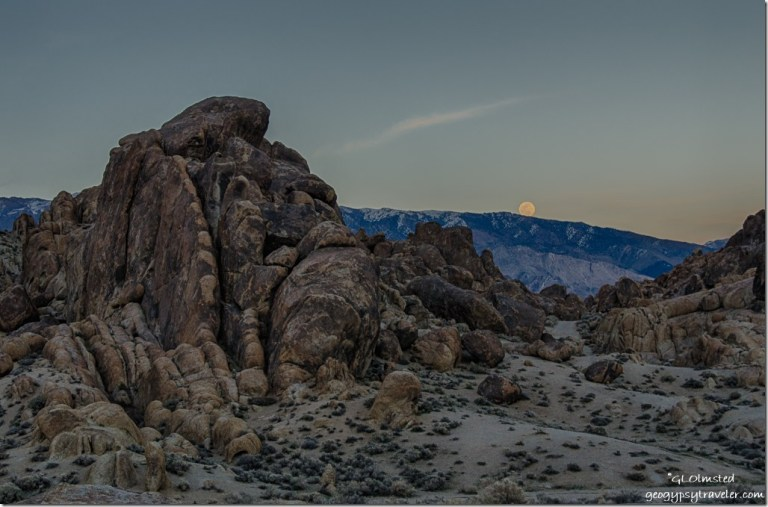 Moon rise Alabama Hills Lone Pine California