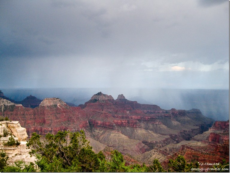 Storm over Bright Angel Canyon from Lodge North Rim Grand Canyon National Park Arizona