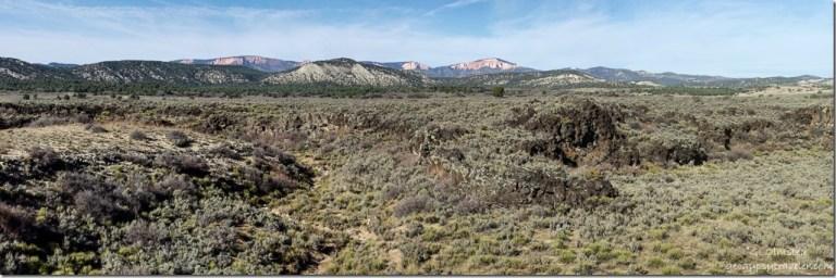 View NW-NE from Glendale Bench Road Utah