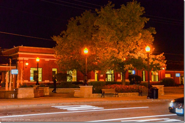 Train station downtown Downers Grove Illinois